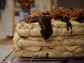 GBBO Challenge with a Twist #2: Coffee-Caramel Almond & Hazelnut Dacquoise