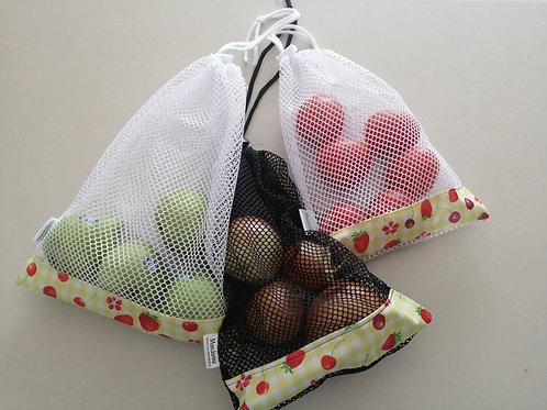 Sac réutilisable pour les fruits et les légumes pqt 2