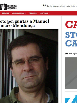 "Entrevista para ""Correio do Porto"""