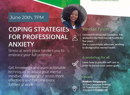 Workshop   20 June   Coping Strategies for Professional Anxiety