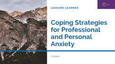 What we learned | Coping Strategies for Professional Anxiety