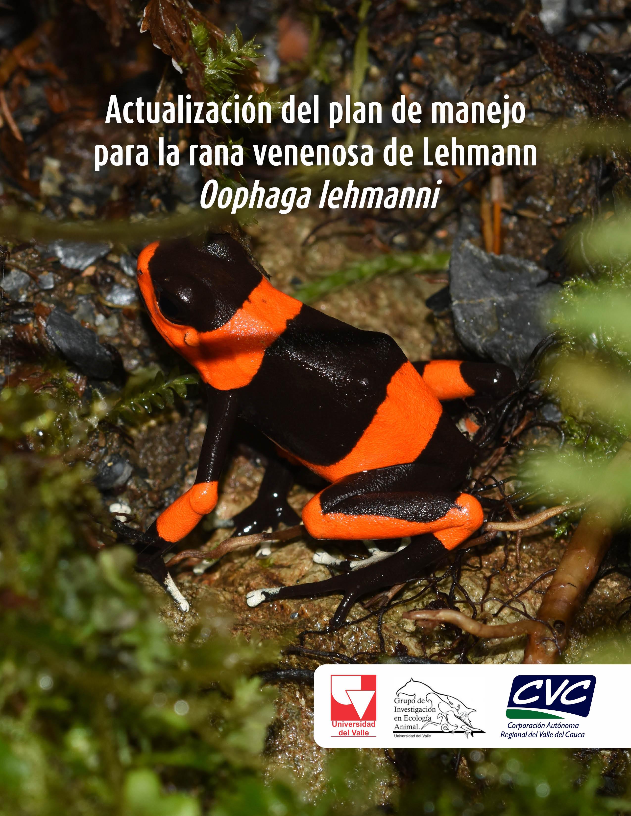 plan de manejo para Oophaga lehmanni