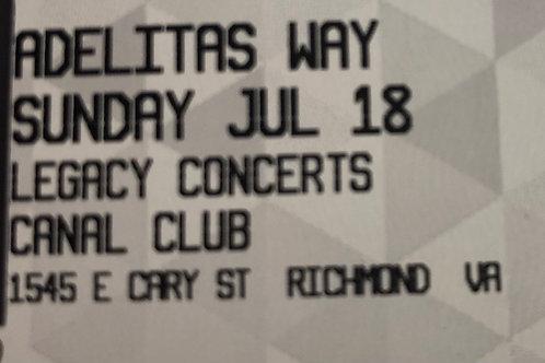 Adelitas Way - Canal Club 7/18/2021