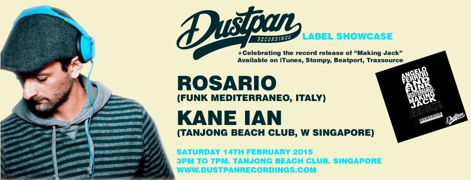 Dustpan Recordings Record Release Party with Rosario (Funk Mediterraneo) 14th Feb 2015