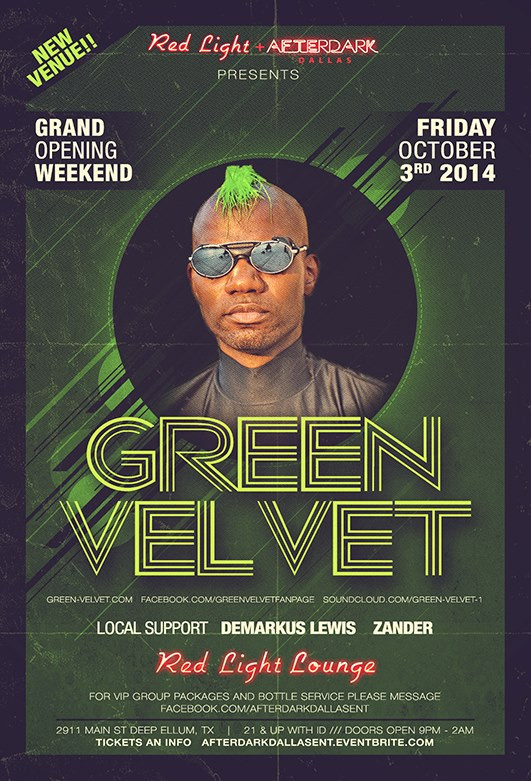 Demarkus Lewis @ Red Light Lounge - Dallas Texas, USA (October 3rd, 2014)