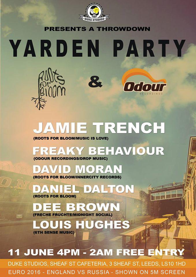 Freaky Behaviour @ Yarden Party - Duke Studios, Leeds UK (11th June)