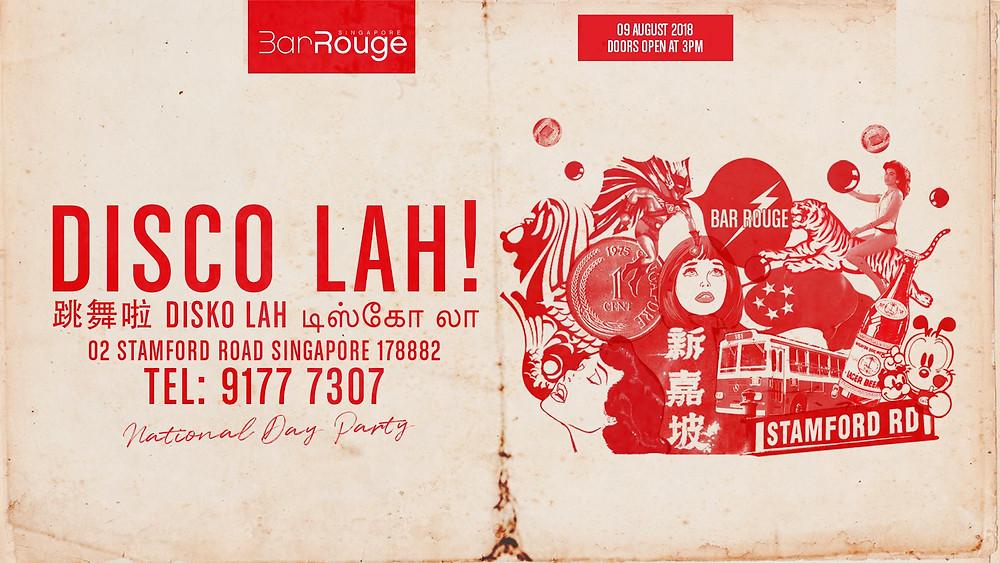 Disco Lah! Singpore National Day Special w/ DJ Aurora and Kane Ian