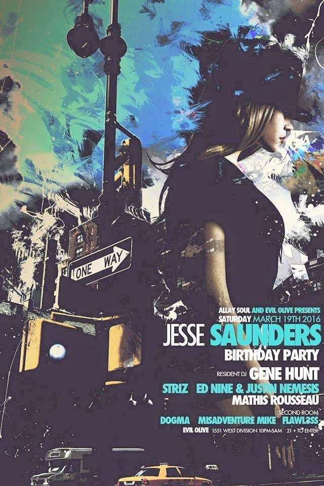 Ed Nine @ Evil Olive, Chicago With Jesse Saunders & Gene Hunt (19th March 2016)