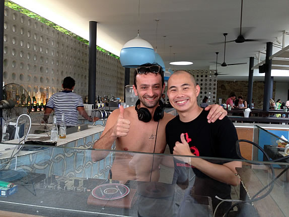 Rosario (Funk Mediterraneo) & Kane Ian @ Tanjong Beach Club - Making Jack - Dustpan Recordings 1