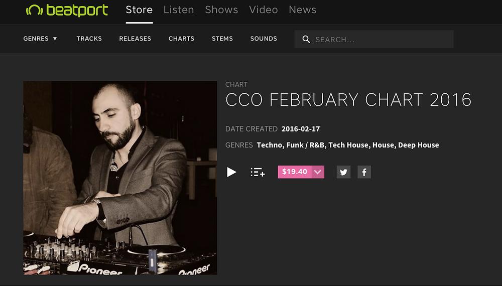 CCO February 2016 Beatport Chart