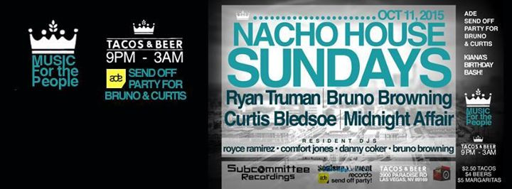 Ryan Truman @ Nacho House Sundays - Tacos & Beer, Las Vegas (11th Oct)