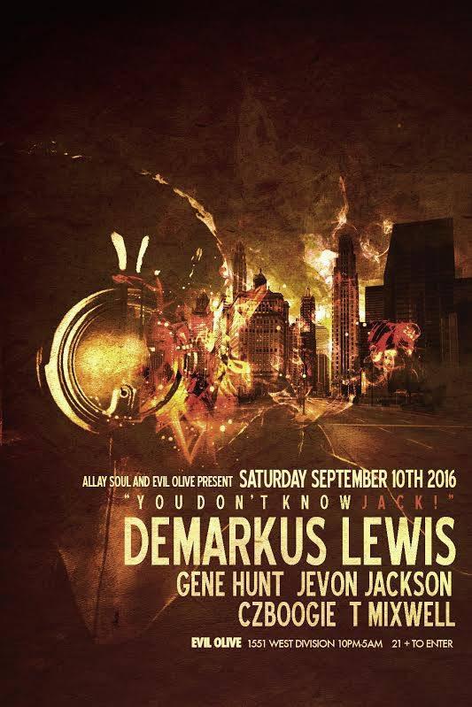 Demarkus Lewis @ Evil Olive, Chicago (10th September)