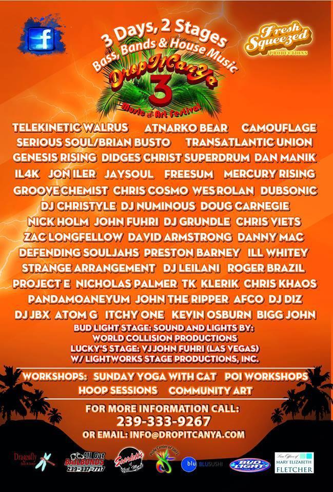 Jon Iler @ Drop It Can Ya 3 Music and Art Festival, Florida USA (Nov 21st)