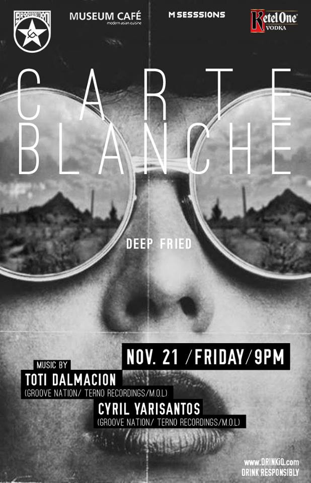 Cyril Yarisantos @ Carte Blanche, Museum Cafe, Philippines (Nov 21st)