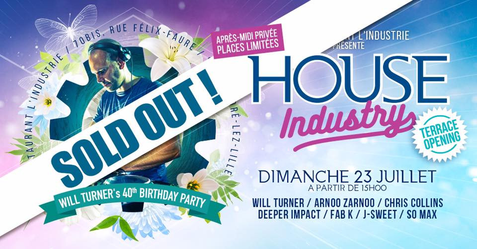 J Sweet @ House Industry, Lille France (July 23rd)