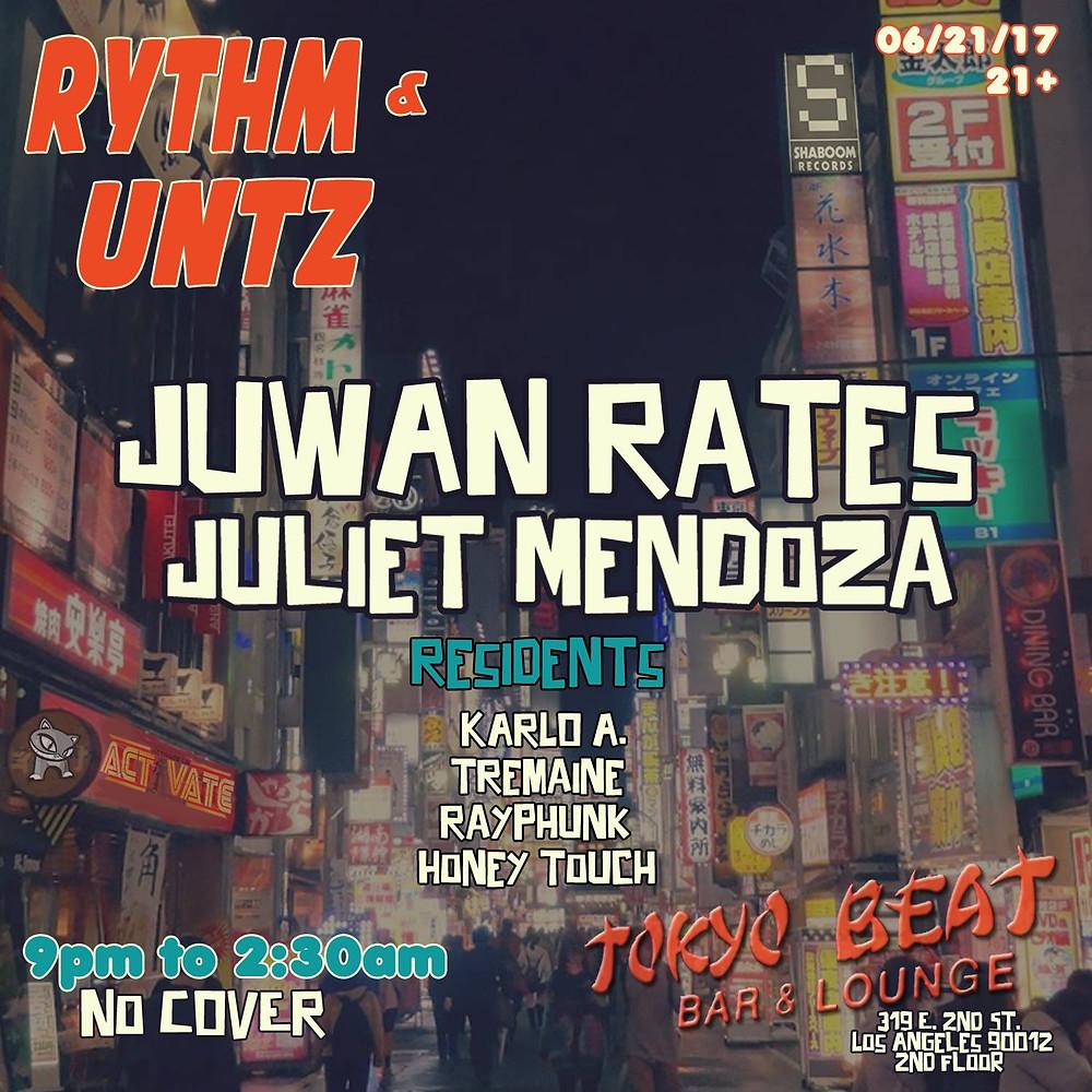 Juwan Rates @ Tokyo Beat Bar & Lounge, Los Angeles