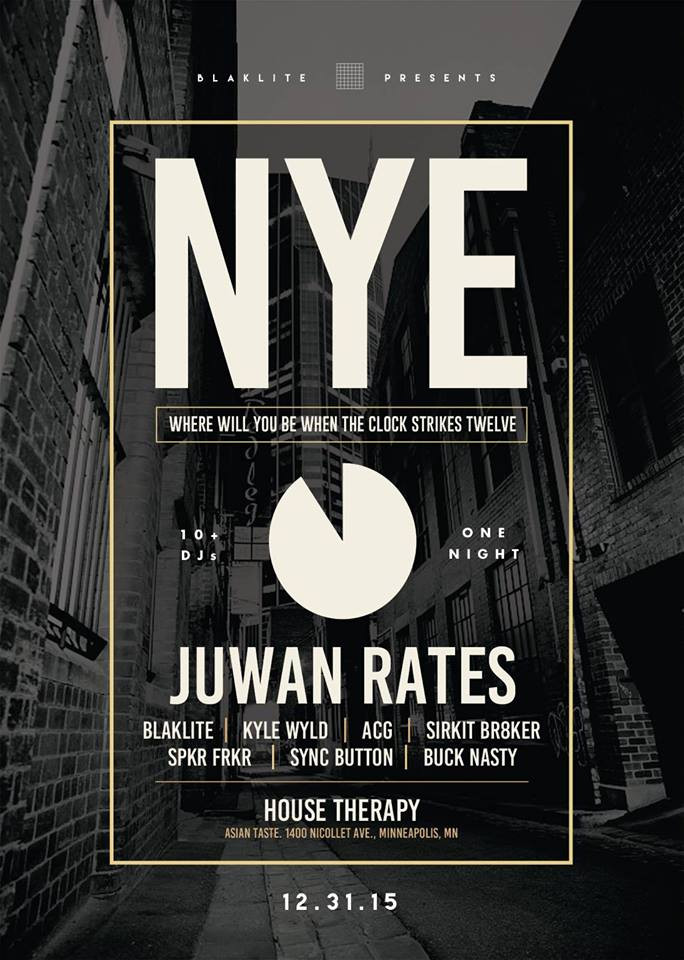 House Therapy's 2016 New Year Party feat. Juwan Rates