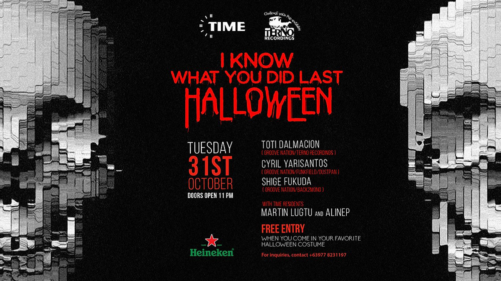 Cyril Yarisantos @ I KNow What You DId Last Halloween! - Manila (October 31st)