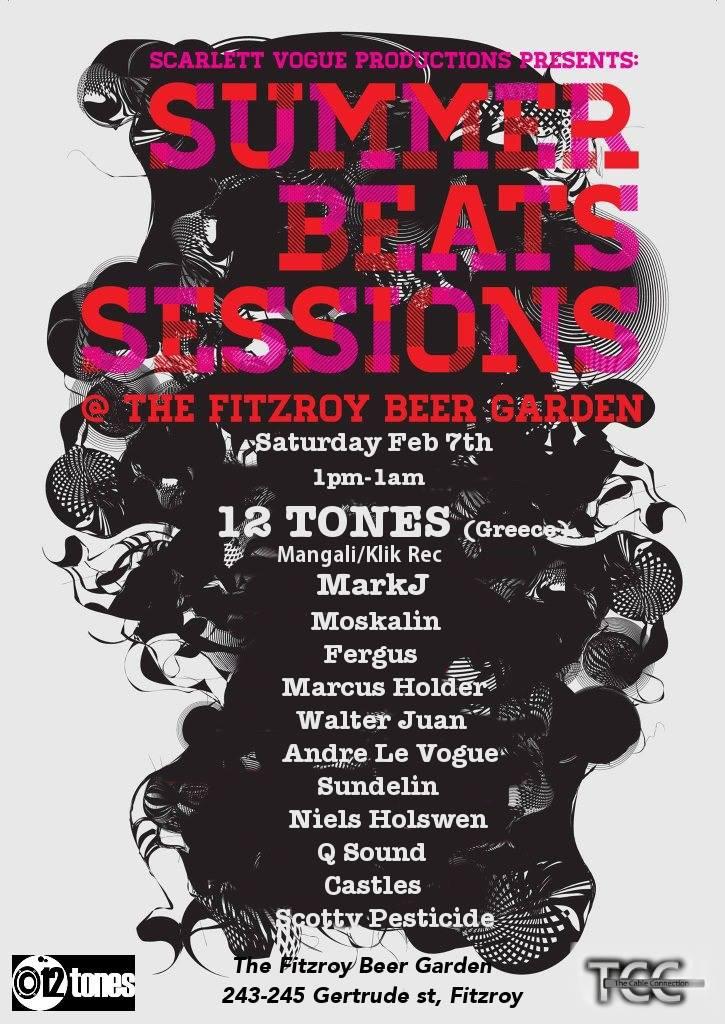 Fergus @ Summer Beats Sessions - The Fitzroy Beer Garden, Melbourne