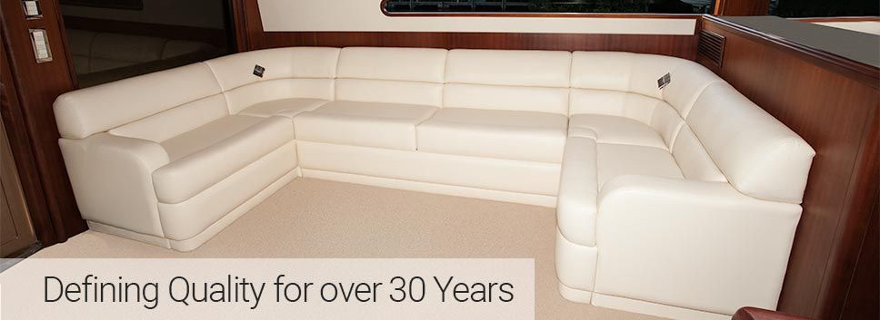 White Storage Sectional