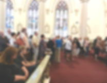 lines-of-people-waiting-for blessing-at-padre-pio-mass-1-pamphlets-to-inspire