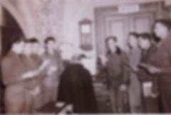 padre-pio-meeting-with-american-soldiers-at-end-of-world-war II-to-receive-a-blessing-from-padre-pio-before-returning-to-the-united-states-pamphlets-to-inspire