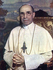 pope-pius XII- in-reflective-prayer-who-asked-for-the-formation-of-prayer-groups-to-stem-secularism-after-world-war II-padre-pio-answers-popes-request-pamphlets-to-inspire