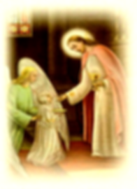 receiving-first-holy-communion-by-a-child-with-jesus-administering-the-sacrament-and-guardian-angel-escorting-child-to-Jesus-pamphlets-to-inspire