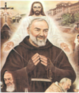 padre-pio-receiving-stigmata-from-jesus-and-in-background-various-scenes-from-san-giovanni-pamphlets-to-inspire