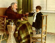 padre-pio-meets-a-little-while-recuperating-from-an-illness-pamphlets-to-inspire