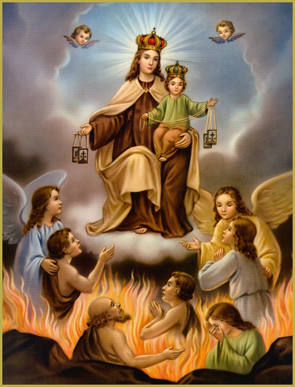 Story and Prayers for the Souls in Purgatory