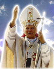 pope-john-paul II-and-the-reciting-of-the-luminous-mysteries-which-pope-john-paul-adopted-as-a-new-prayer-pamphlets-to-inspire