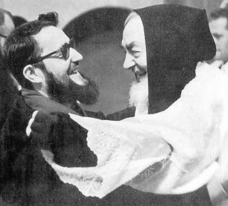 father-allesio-and-padre-pio-greeting-each-other-pamphlets-to-inspire