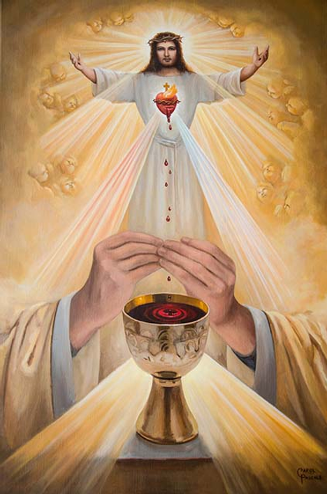 April is the month of the devotion to the Blessed Sacrament