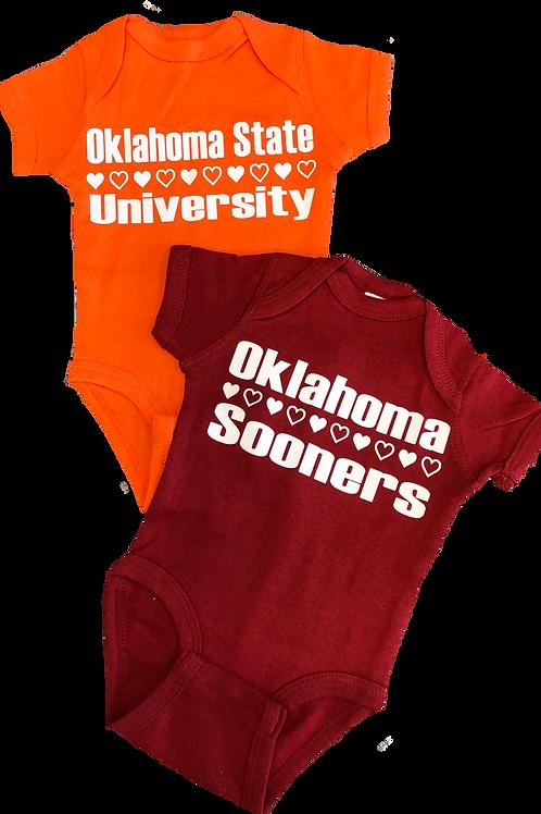 Oklahoma/Oklahoma State Onesie