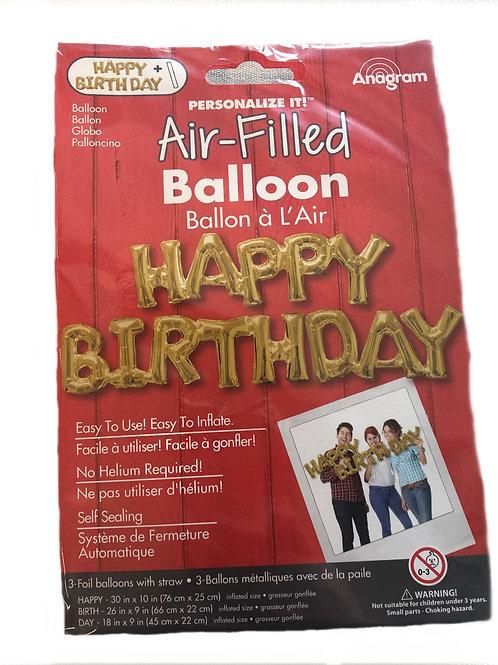 Anagram Happy Birthday Air-Filled Balloon