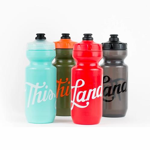 This Land Press Script Water Bottles