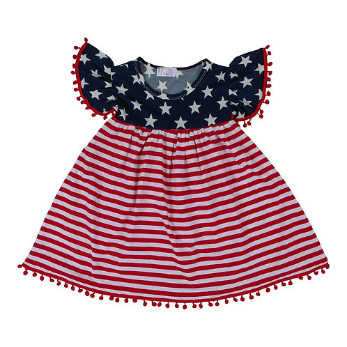 Mila & Rose - 4th of July Pom Pom Dress