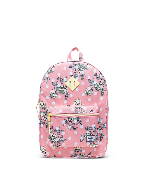 Herschel - Heritage Backpack in Polka Floral Peony (Youth)