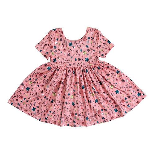Mila & Rose - Pink Fairytale Short Sleeve Twirl Dress