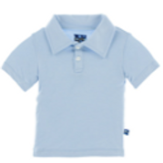 KicKee Pants - Basic Short Sleeve Polo in Pond