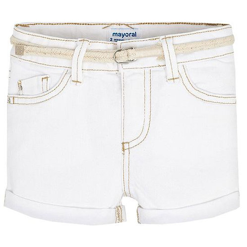 Mayoral White Shorts with Belt