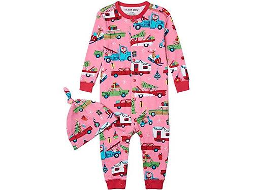 Retro Christmas Pajamas (Pink) - Baby