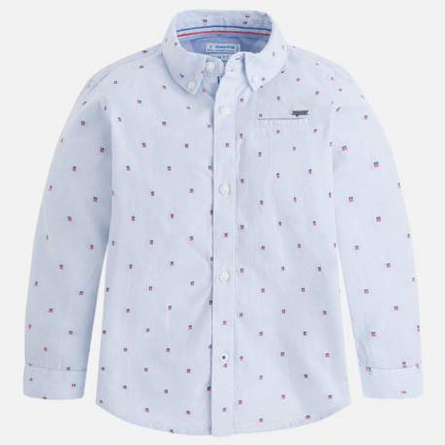 Mayoral Blue Button Up