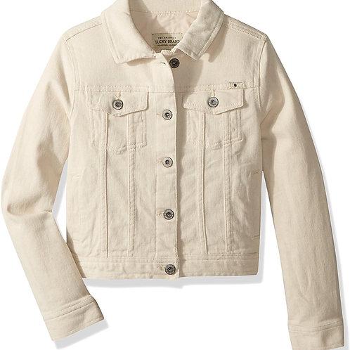 Lucky & Blessed Ivory Denim Jacket