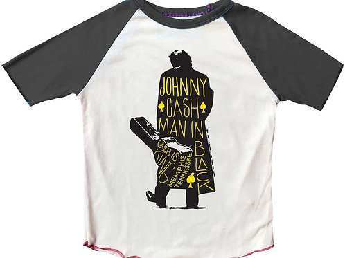 Rowdy Sprout - Johnny Cash Man in Black Raglan Tee