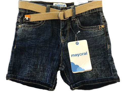 Mayoral Demin Short With Bermuda Belt