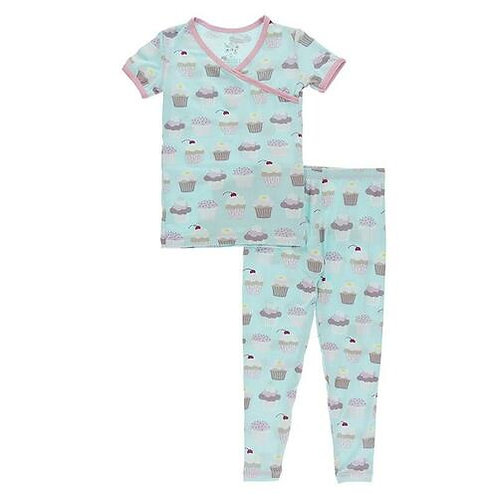 Kickee Pants - Short Sleeve Pajama Set (Summer Sky Cupcakes)