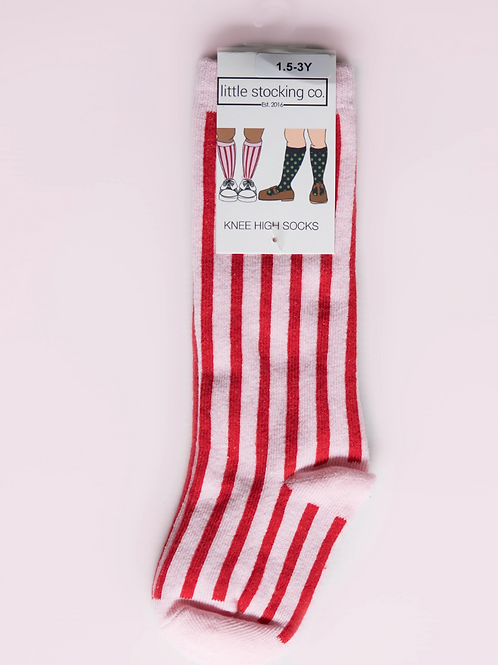 Little Stocking Co Knee High Candy Stripe Socks