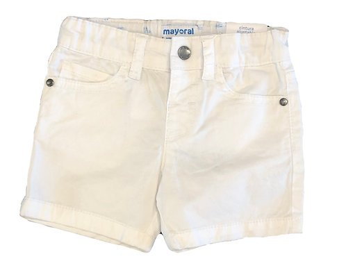 Mayoral White Twill Shorts